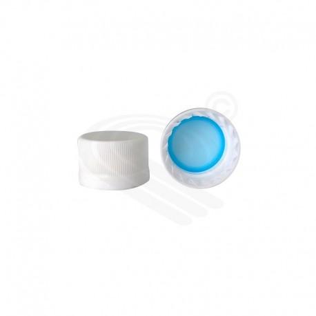 Tapa plástica 28mm blanco para envases de vidrio